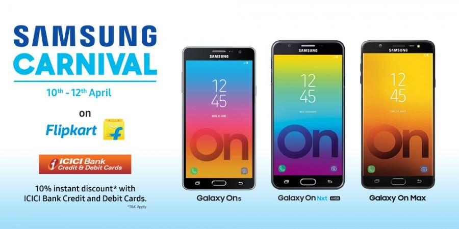 Samsung Carnival on Flipkart