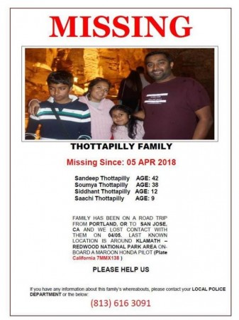 4 Indian missing in US