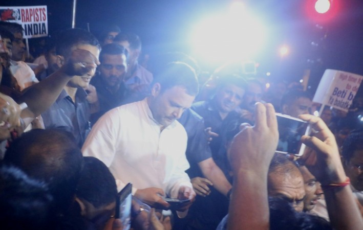 Rahul Gandhi candlelight march against Kathua rape