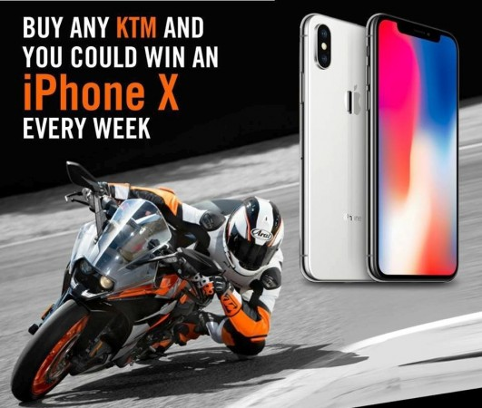 KTM India offer to win iPhone X