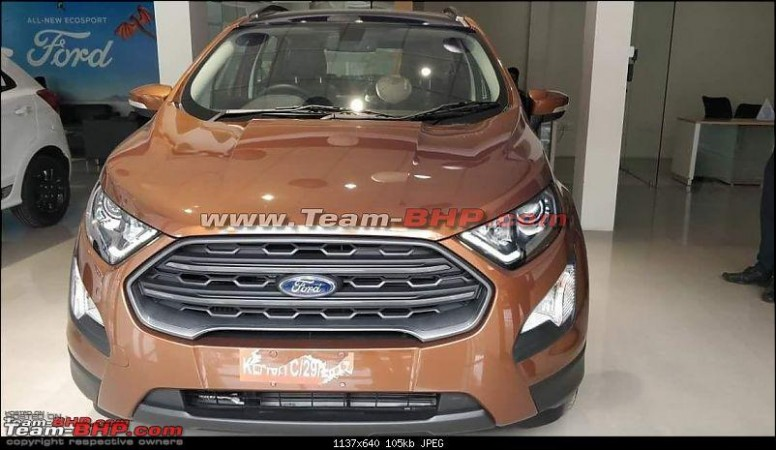 Ford Ecosport New Variant Spied ; To Get A Sunroof