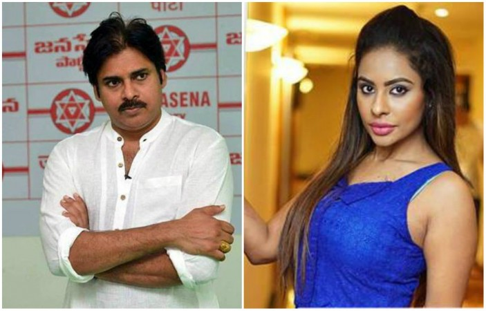 Pawan Kalyan and Sri Reddy