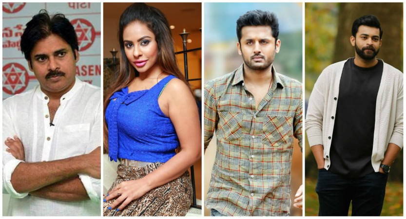 Sri Reddy, Pawan Kalyan, Nithiin and Varun Tej