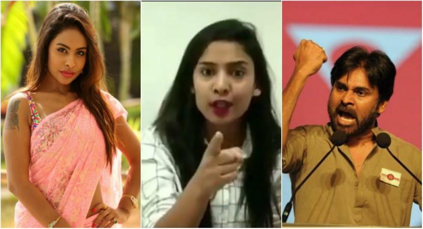 Sri Reddy, Radha Bangaru and Pawan Kalyan