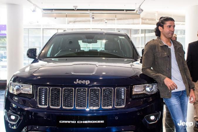Farhan Akhtar with Jeep Grand Cherokee
