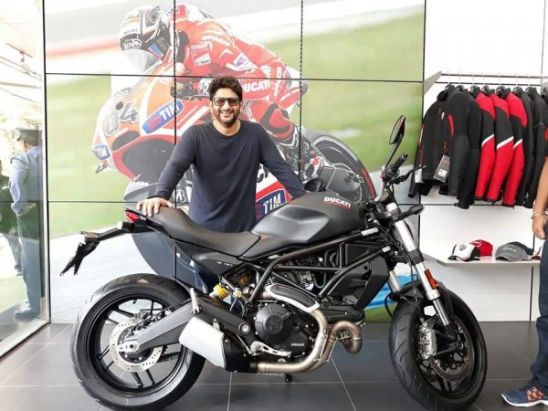 Arshad Warsi with Ducati Monster 797
