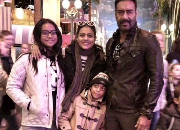 Kajol, Ajay Devgn, Daughter Nysa, Son Yug