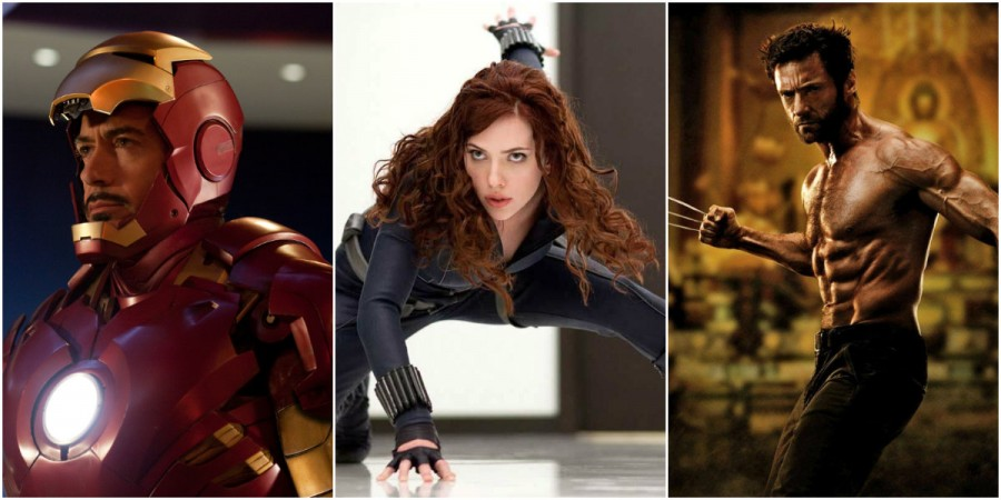 Iron Man, Black Widow, Wolverine