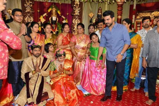 Ram Charan at Boyapati Srinu's niece Tejaswini wedding ceremony