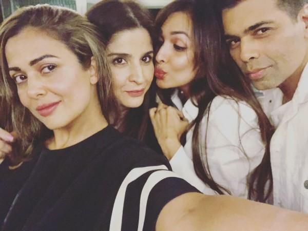Amrita Arora, Maheep Kapoor, Malaika Arora Khan, Karan Johar