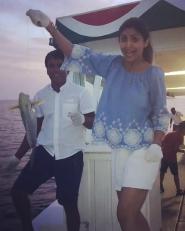 Shilpa Shetty trolled for fishing