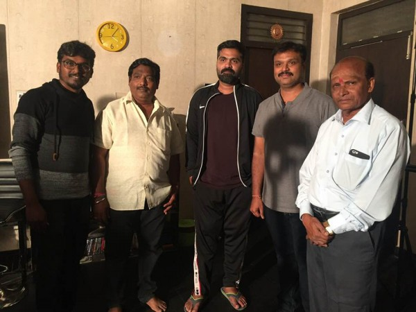 Simbu with Sridhar V Sambhram and Iruvudellava Bittu team