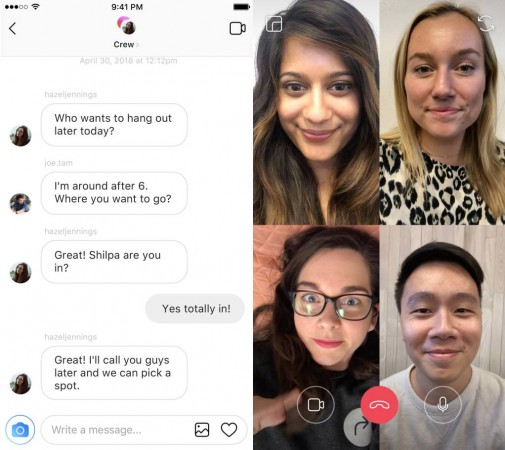Instagram is getting video calling with group chat support