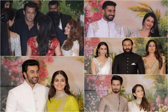 Salman Khan, Aishwarya Rai, Katrina Kaif, Ranbir Kapoor, Alia Bhatt, Kareena Kapoor, Shahid Kapoor, Abhishek Bachchan, Karisma Kapoor