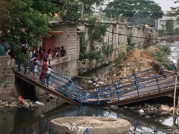 Bridge collapsed in Shantinagar, while MLA NA Harris was campaigning