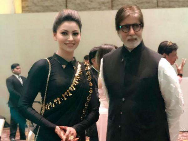 Urvashi Rautela and Amitabh Bachchan