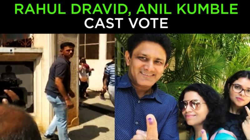 Rahul Dravid, Anil Kumble cast vote