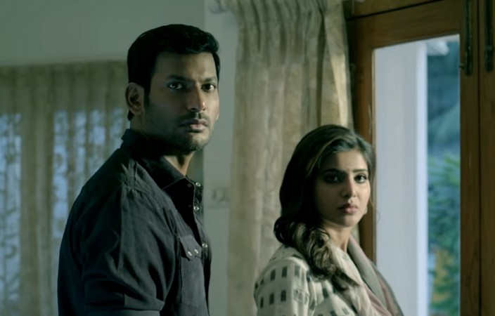 Vishal and Samantha in Irumbu Thirai