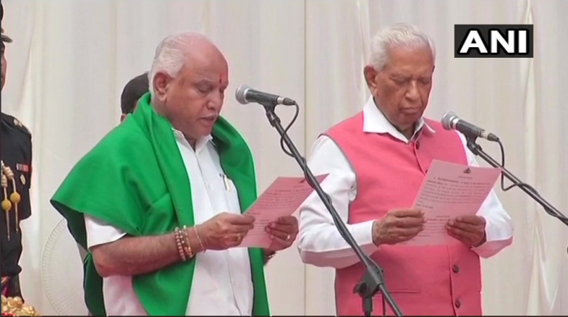 Yeddyurappa takes oath as CM of Karnataka