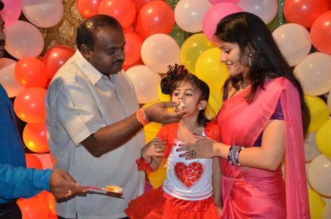 Kumaraswamy with Radhika