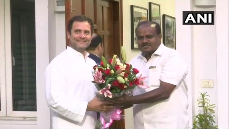 Rahul Gandhi and HD Kumaraswamy