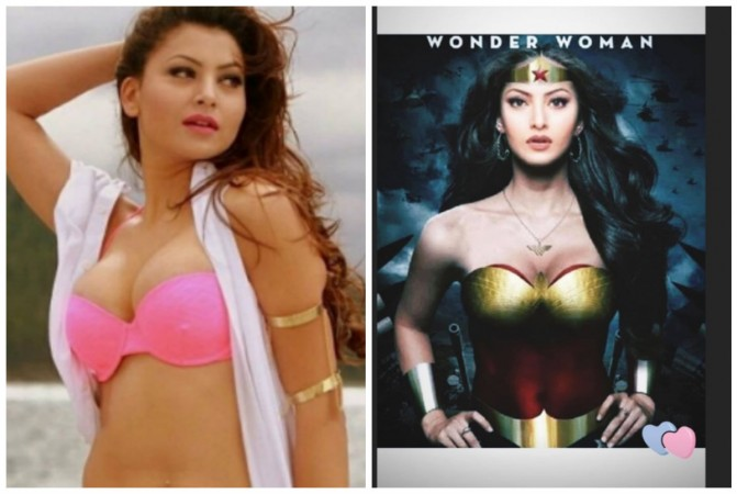 Photoshopped picture of Urvashi Rautela as Wonder Woman