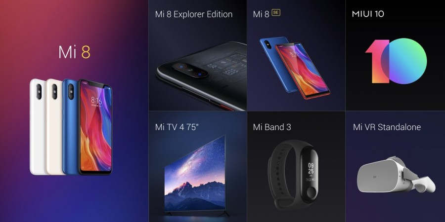 Xiaomi Mi 8 alongside all the products launched on May 31