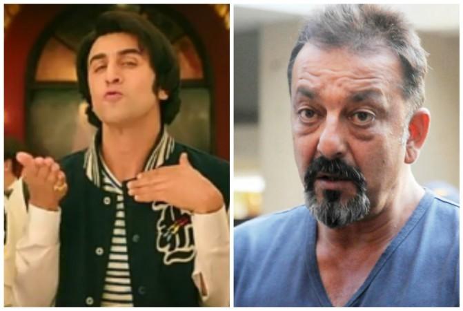 Ranbir Kapoor in Sanju new song (left) Sanjay Dutt