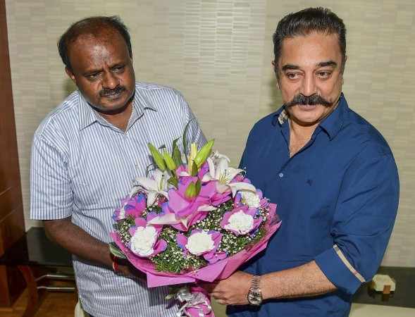 Kamal Haasan meets Kumaraswamy, sees 'hope' in Cauvery issue