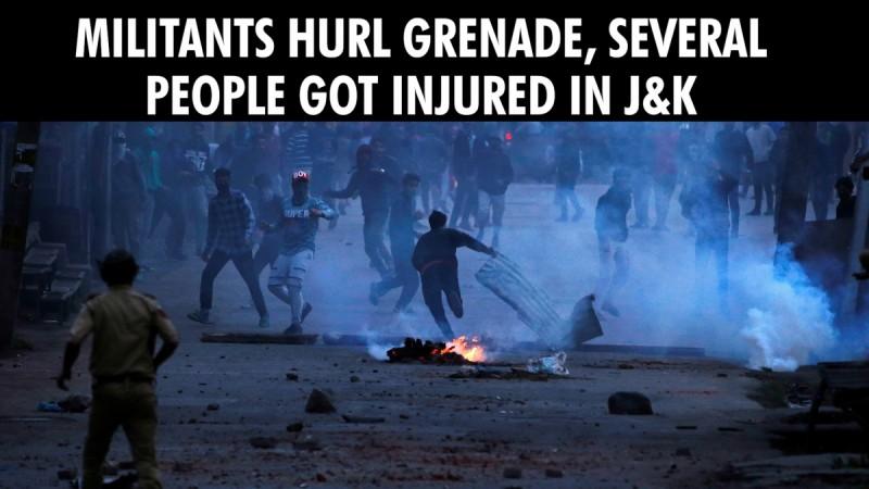 Militants hurl grenade, several people got injured in J&K