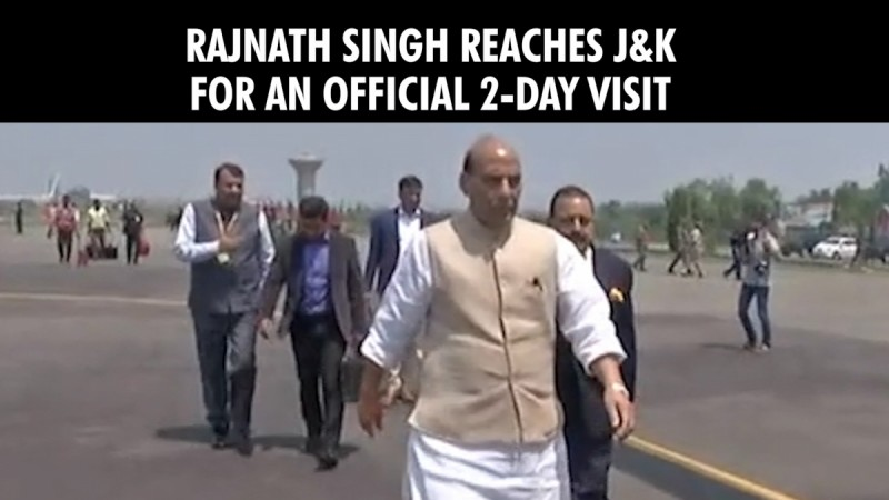 Rajnath Singh reaches J&K for an official 2-day visit