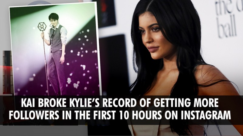 EXO's Kai joins Instagram, breaks Kylie Jenner's record