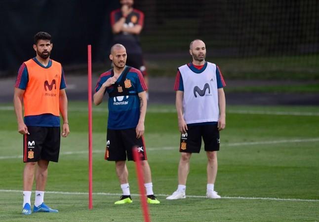 Diego Costa, David Silva, Andres Iniesta, Spain