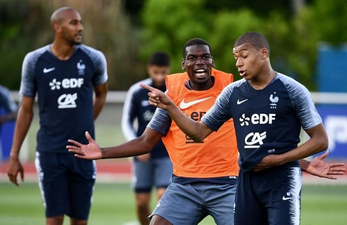 Paul Pogba Kylian Mbappe France
