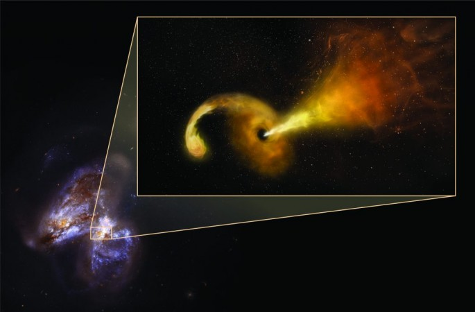 Black hole eats star