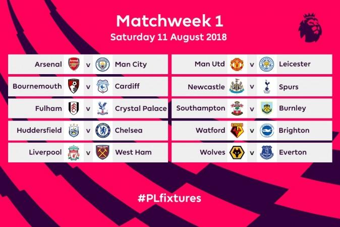 Matchweek 1 of the 2018/19 season