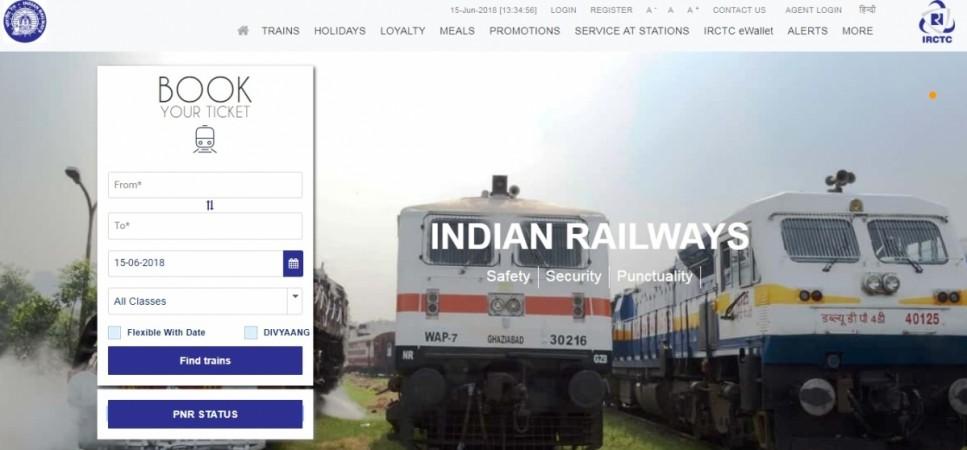 IRCTC's new website