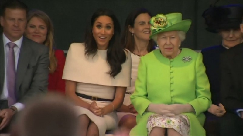 Meghan Markle And Queen Elizabeth Visit Cheshire Together On First Joint Trip