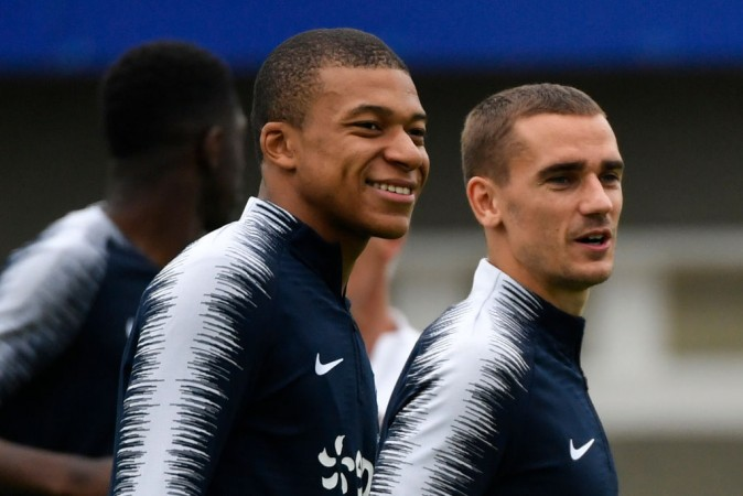 Kylian Mbappe and Antoino Griezmann