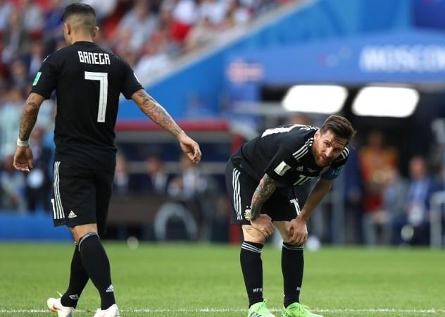 Ever Banega Lionel Messi Argentina