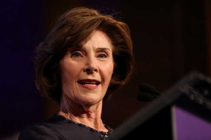 Former First Lady of the United States, Laura Bush.