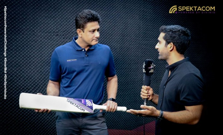 Anil Kumble during an interview