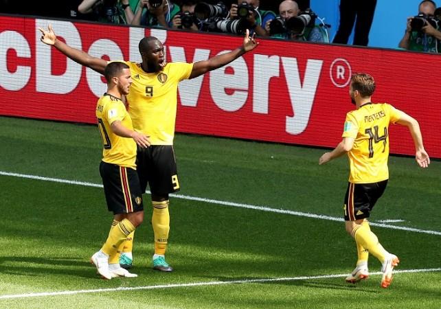 Hazard Lukaku Mertens Belgium