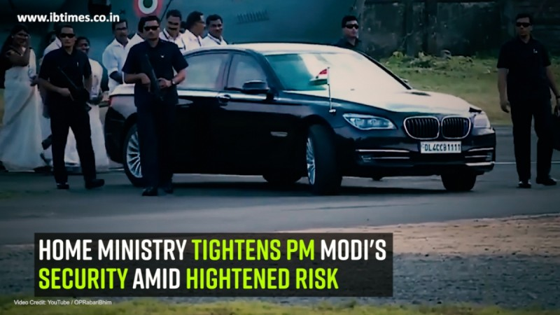 Home ministry tightens PM modi's security amid hightened risk