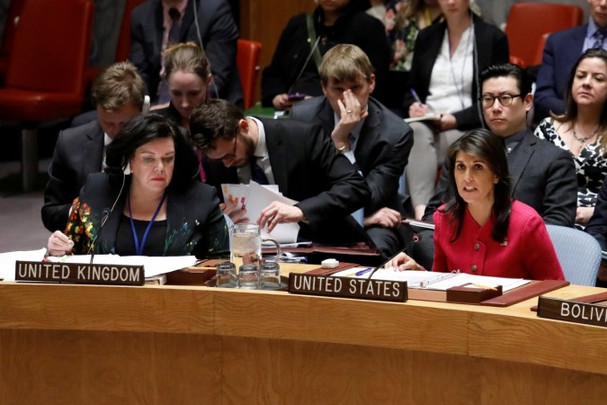 Nikki Haley at the UNSC meeting on chemical weapons report