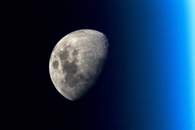 Lunar portrait taken by ESA astronaut Alexander Gerst