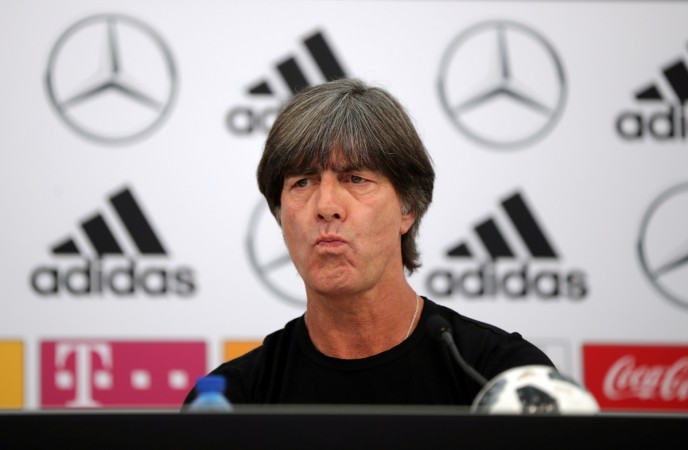 Germany coach Joachim Loew during the press conference