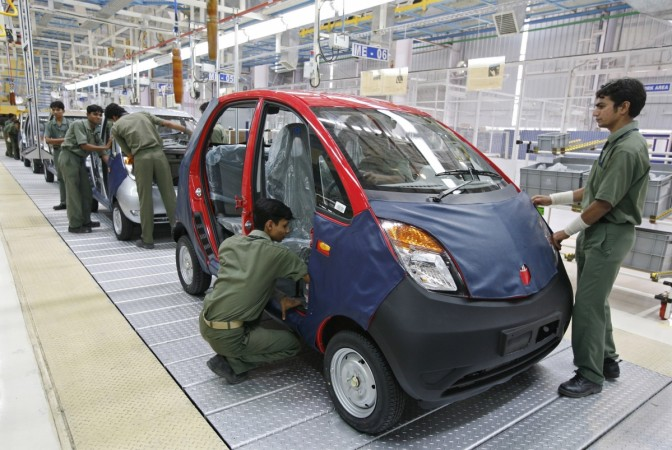 Tata Nano at manufacturing plant in Gujarat