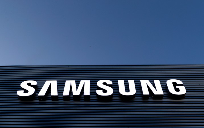The logo of Samsung is seen on a building
