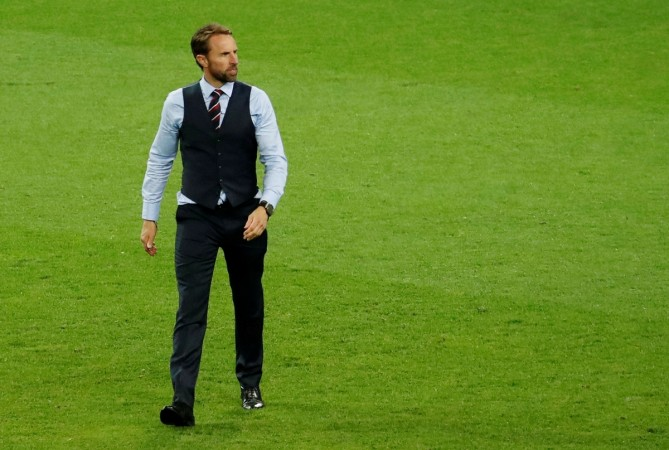 England manager Gareth Southgate after the match versus Columbia
